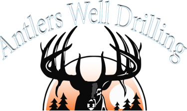Antlers well drilling logo