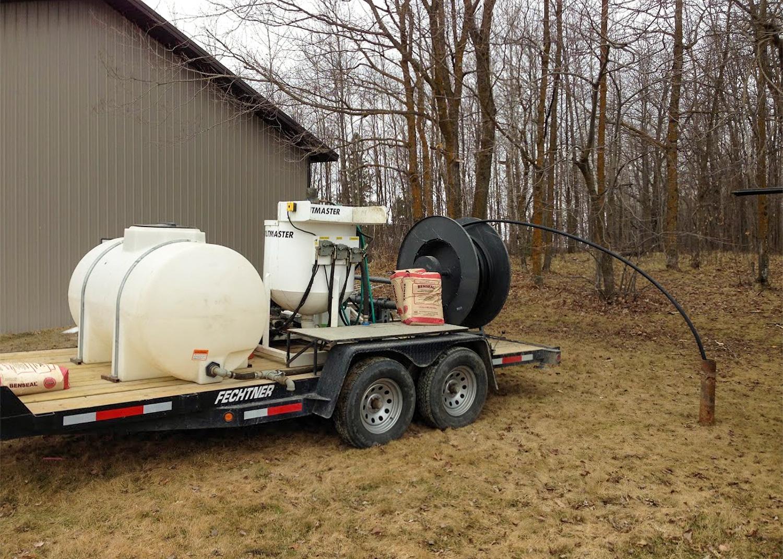Well Sealing equipment on trailer