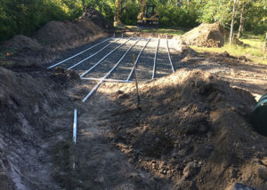 In ground septic lines under a home