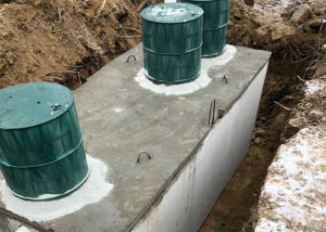in ground septic tank