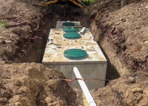 in ground septic tank by Antlers well drilling